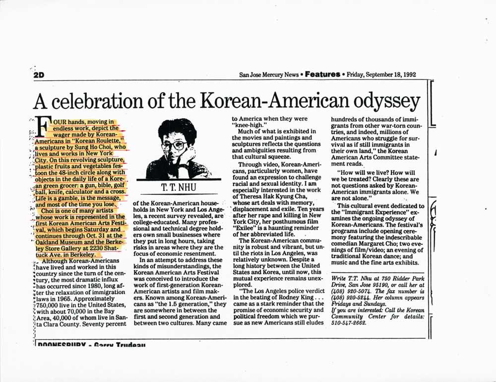 A celebration of the Korean-American odyssey