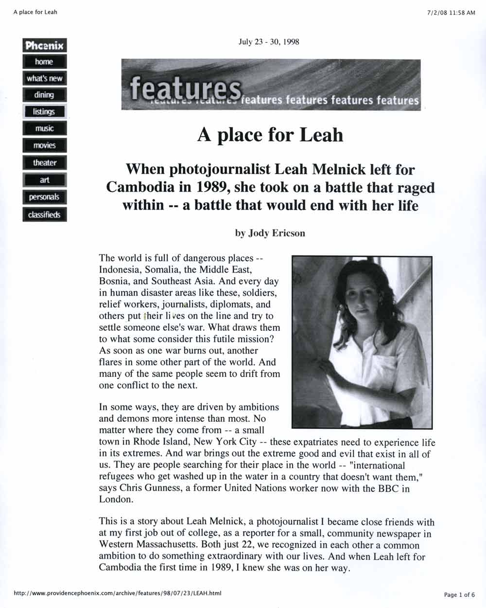 A Place for Leah, pg 1