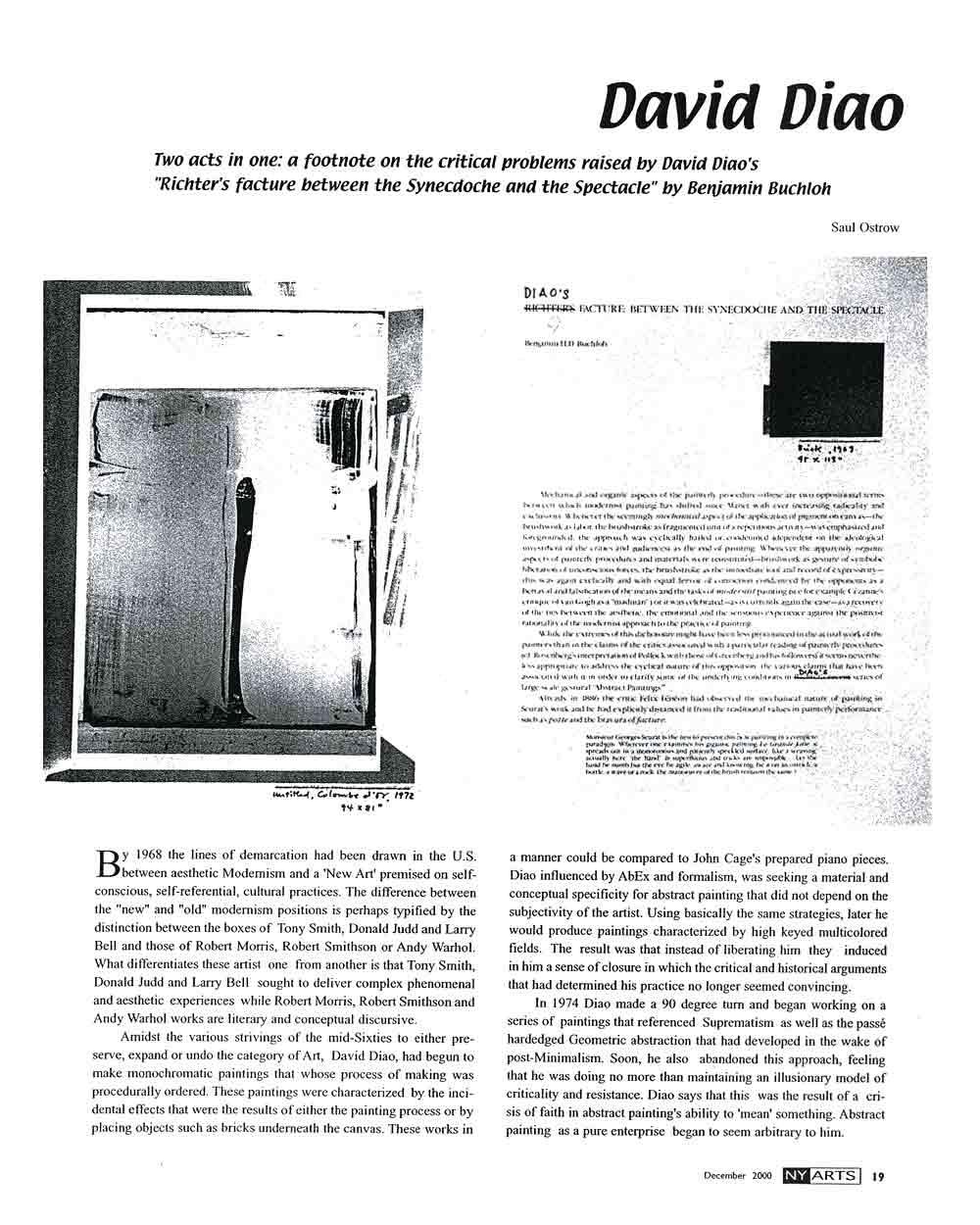 David Diao, article, pg 1