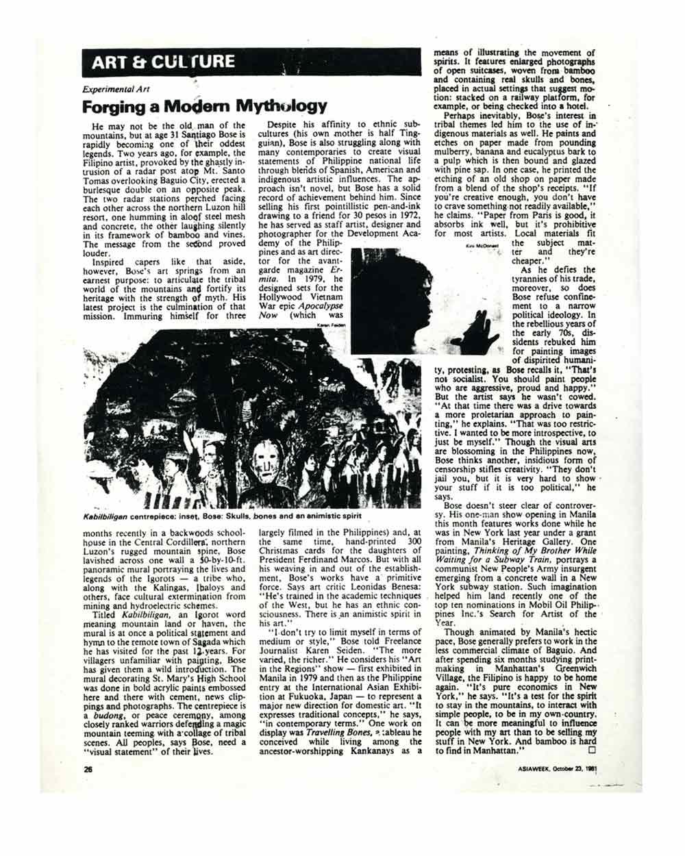 Forging a Modern Mythology