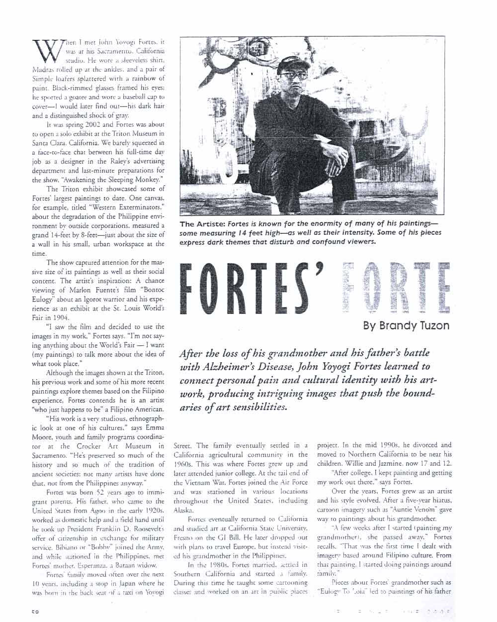 Fortes' Forte, article, pg 1