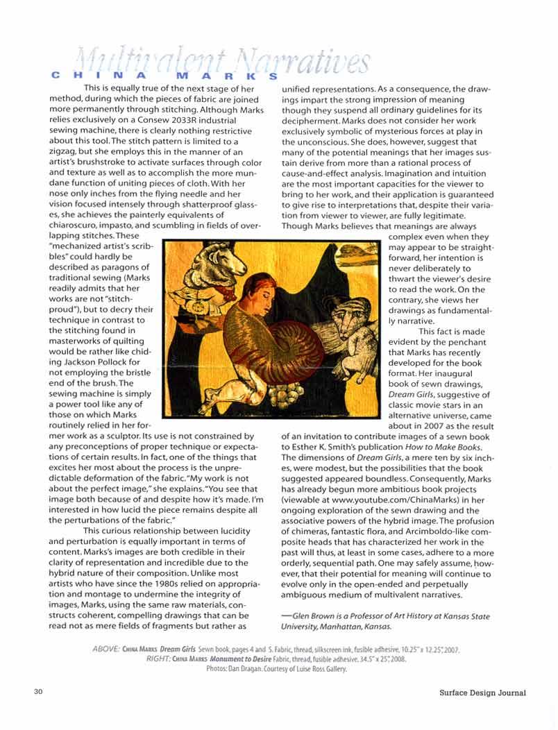 Multivalent Narratives: China Marks, article, pg 2