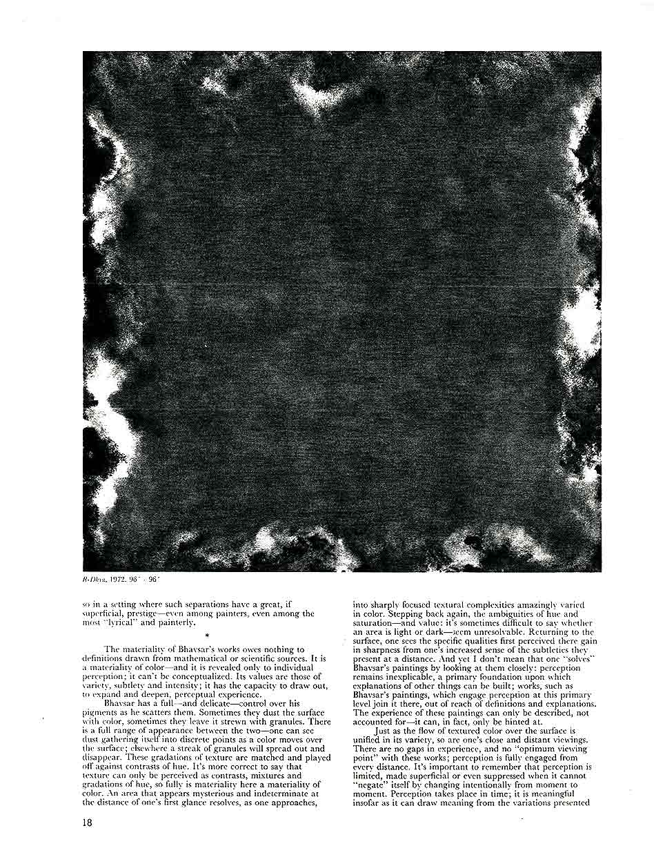 Natvar Bhavsar: The Purpose of Looking, article, pg 2