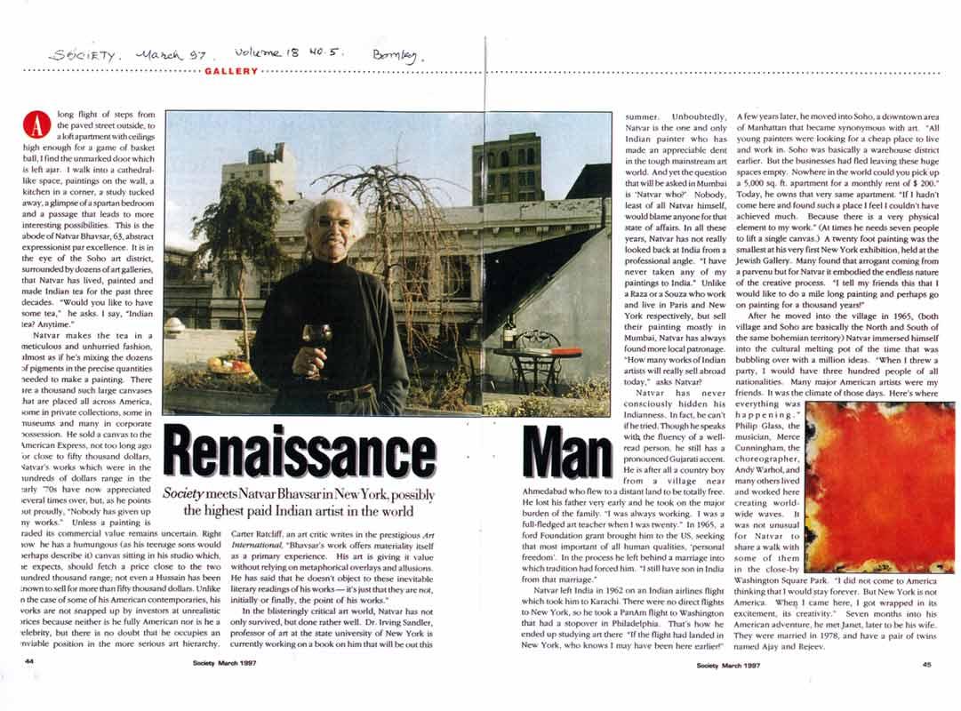 Renaissance Man, article, pg 1