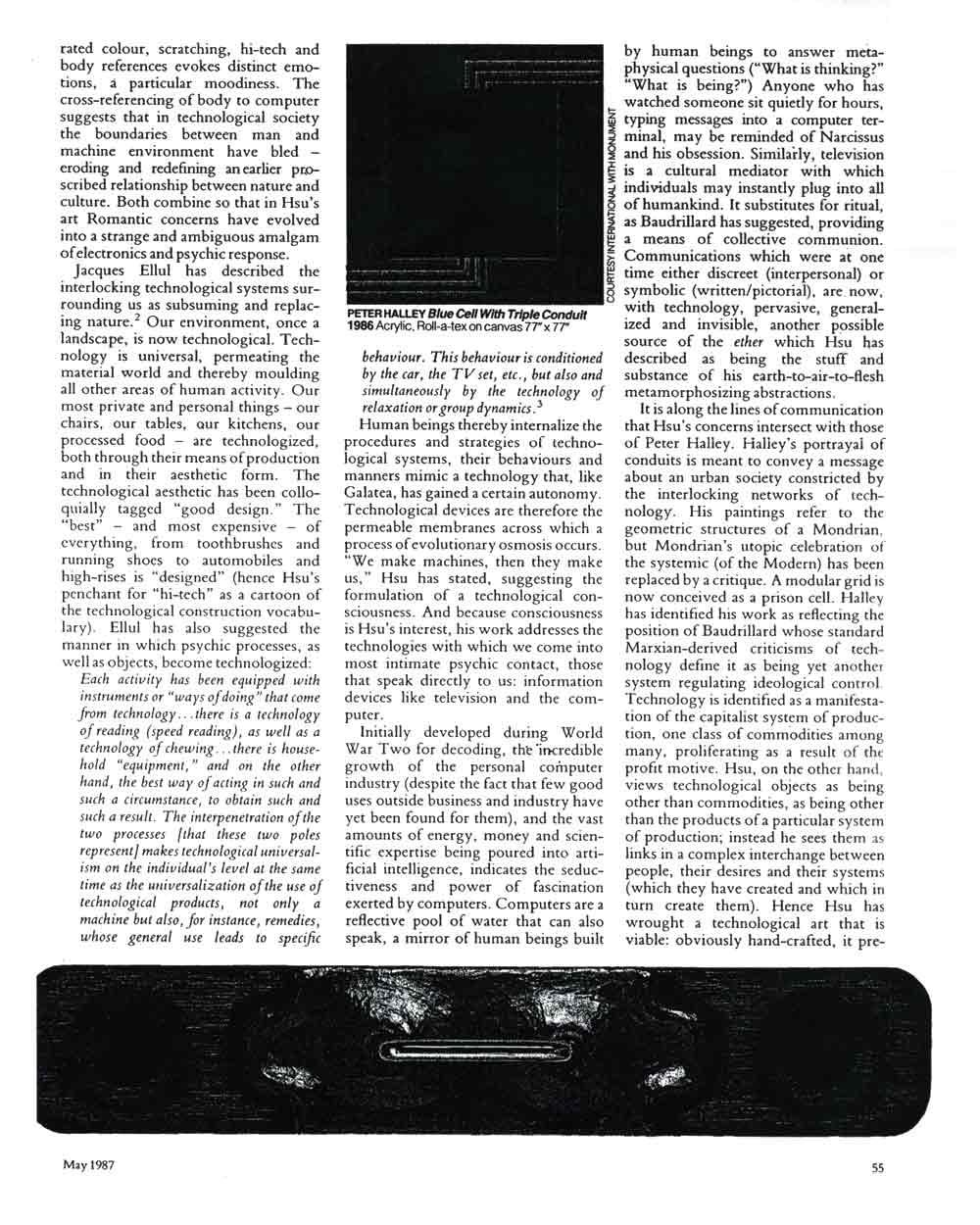 Tishan Hsu, article in Artscribe International, pg 3