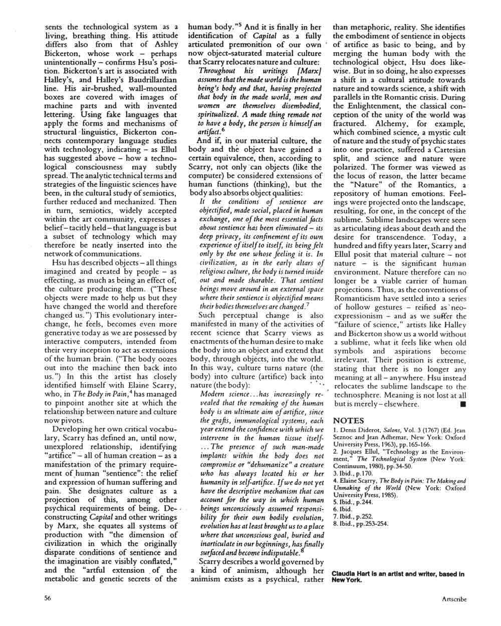 Tishan Hsu, article in Artscribe International, pg 4