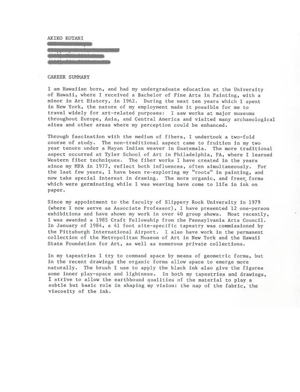 Akiko Kotani's Biography