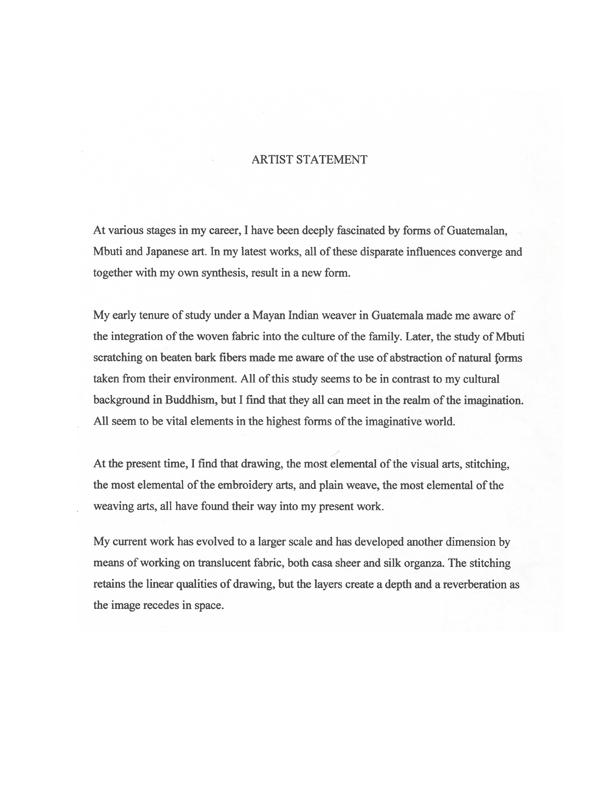 Akiko Kotani's Artist Statement