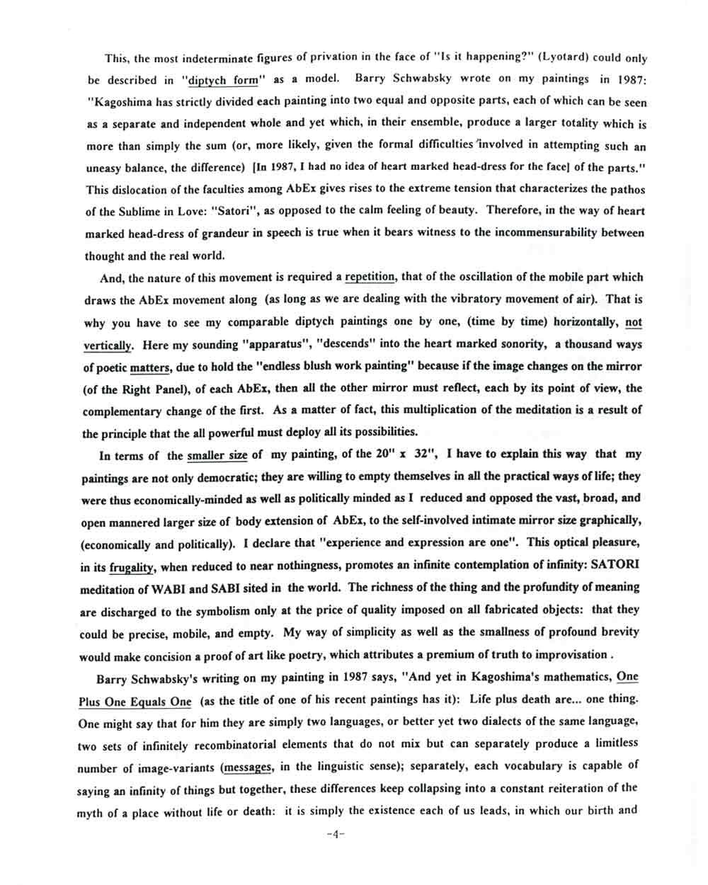 Rocky Kagoshima's Artist Statement, pg 4