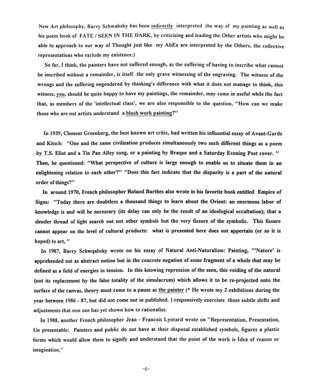 Rocky Kagoshima's Artist Statement, pg 6