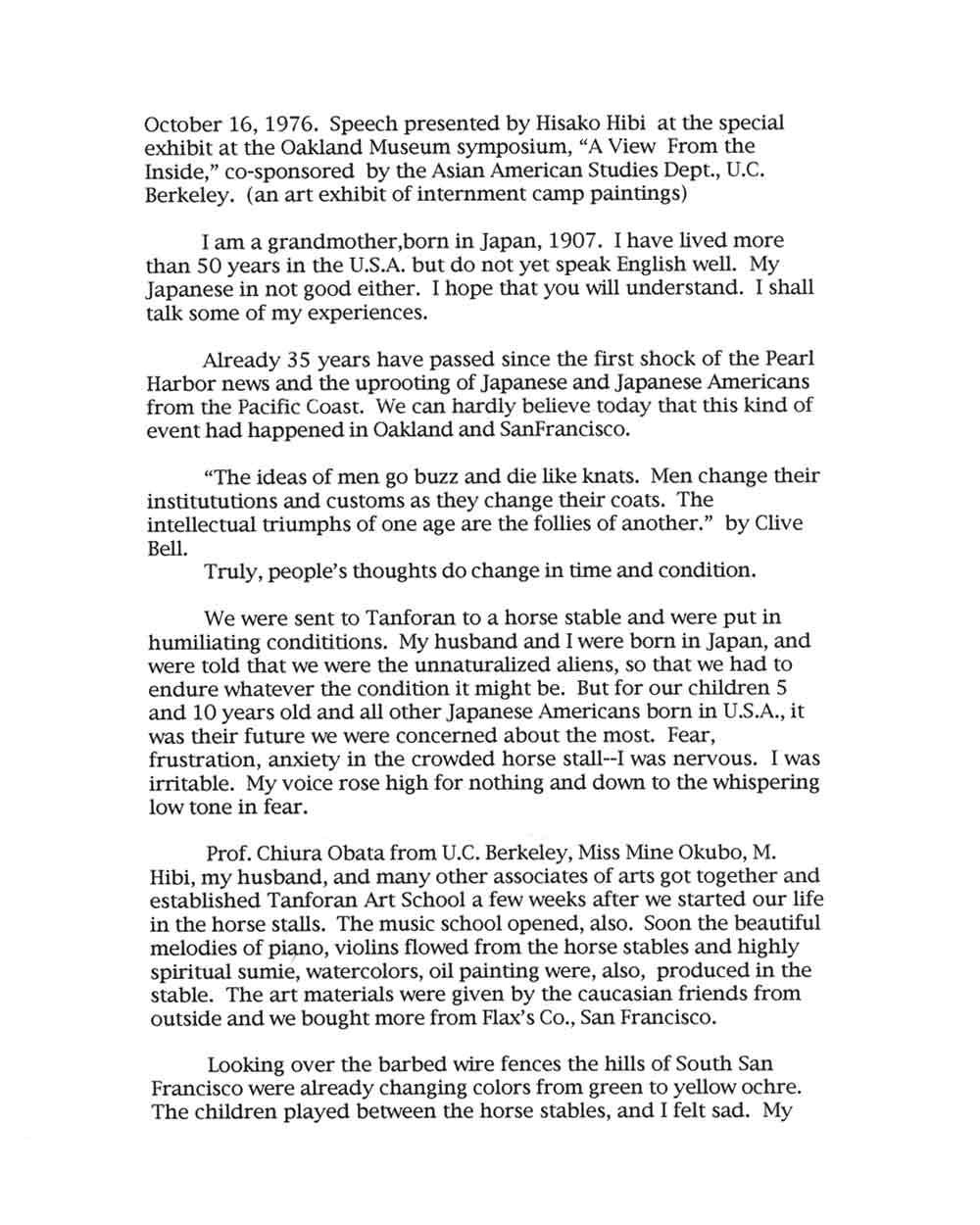 Hisako Hibi's speech, pg 1