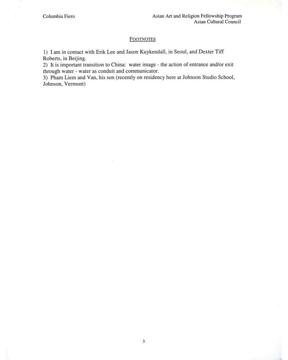 Columbia Fiero's Proposal, pg 3