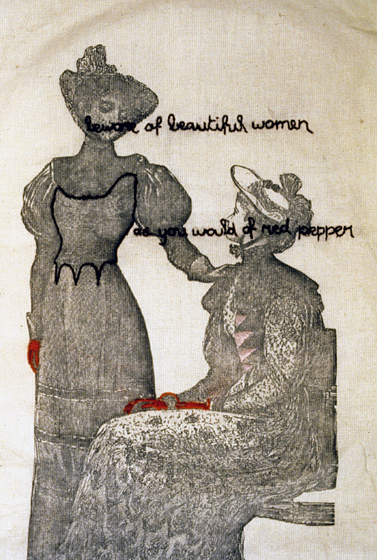 Beware of Beautiful Women (detail)