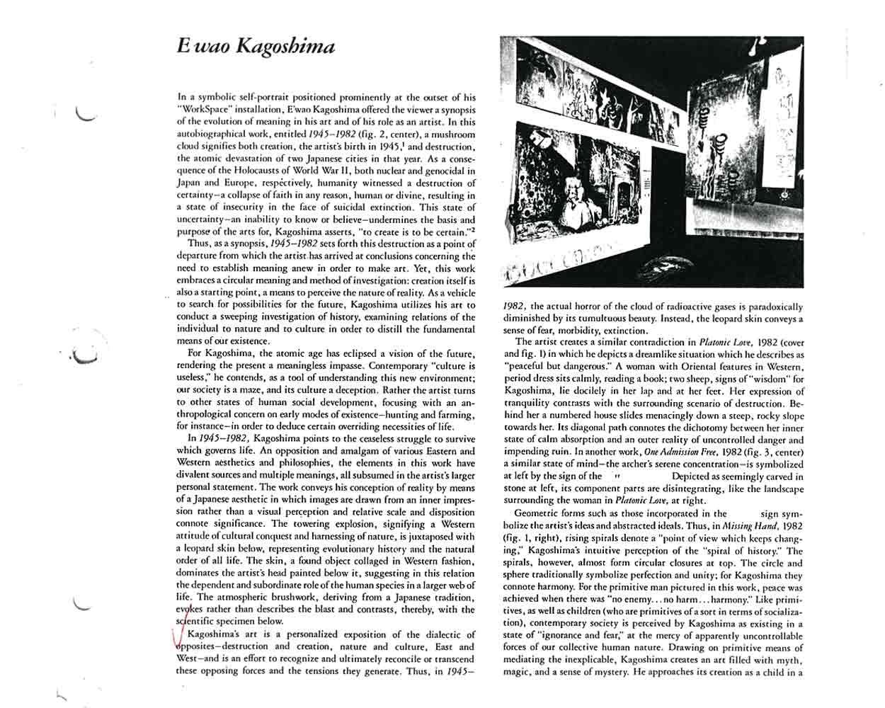 Ewao Kagoshima, essay, pg 1