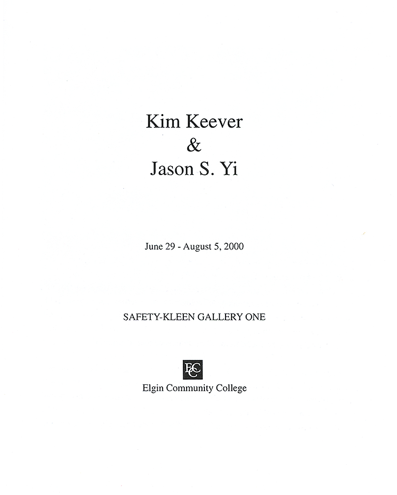 Jason Yi, catalog, title page