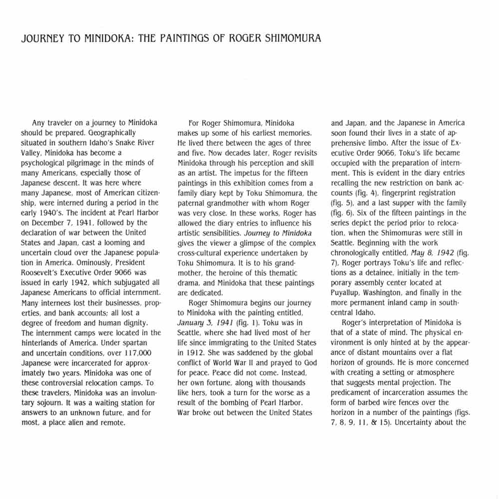 Journey to Minidoka, brochure, Seto, pg 1