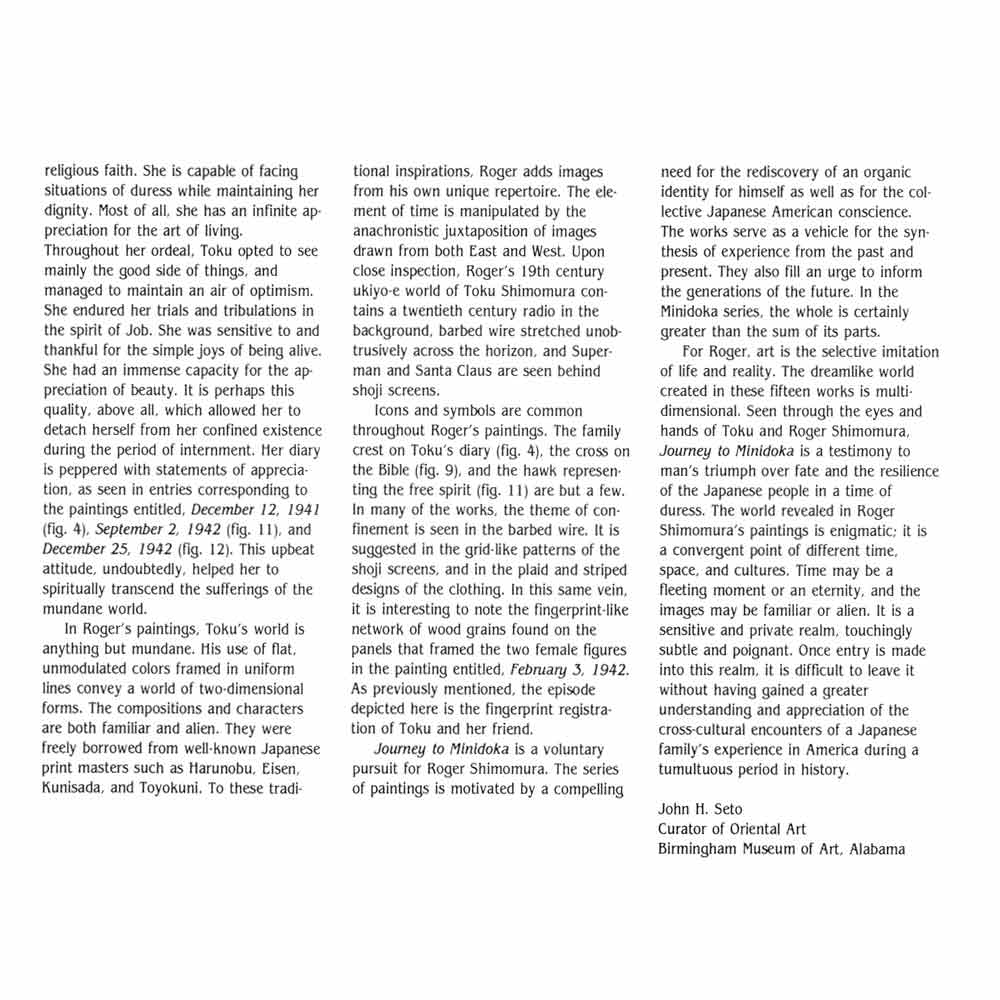 Journey to Minidoka, brochure, Seto, pg 3