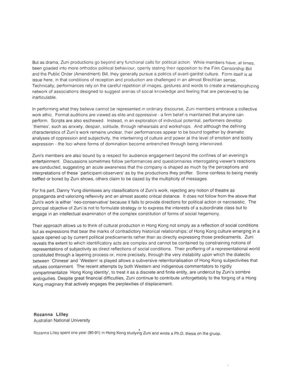 Reterritorialising Subjectivity: Chronicle of a Zuni Observer, essay, pg 2