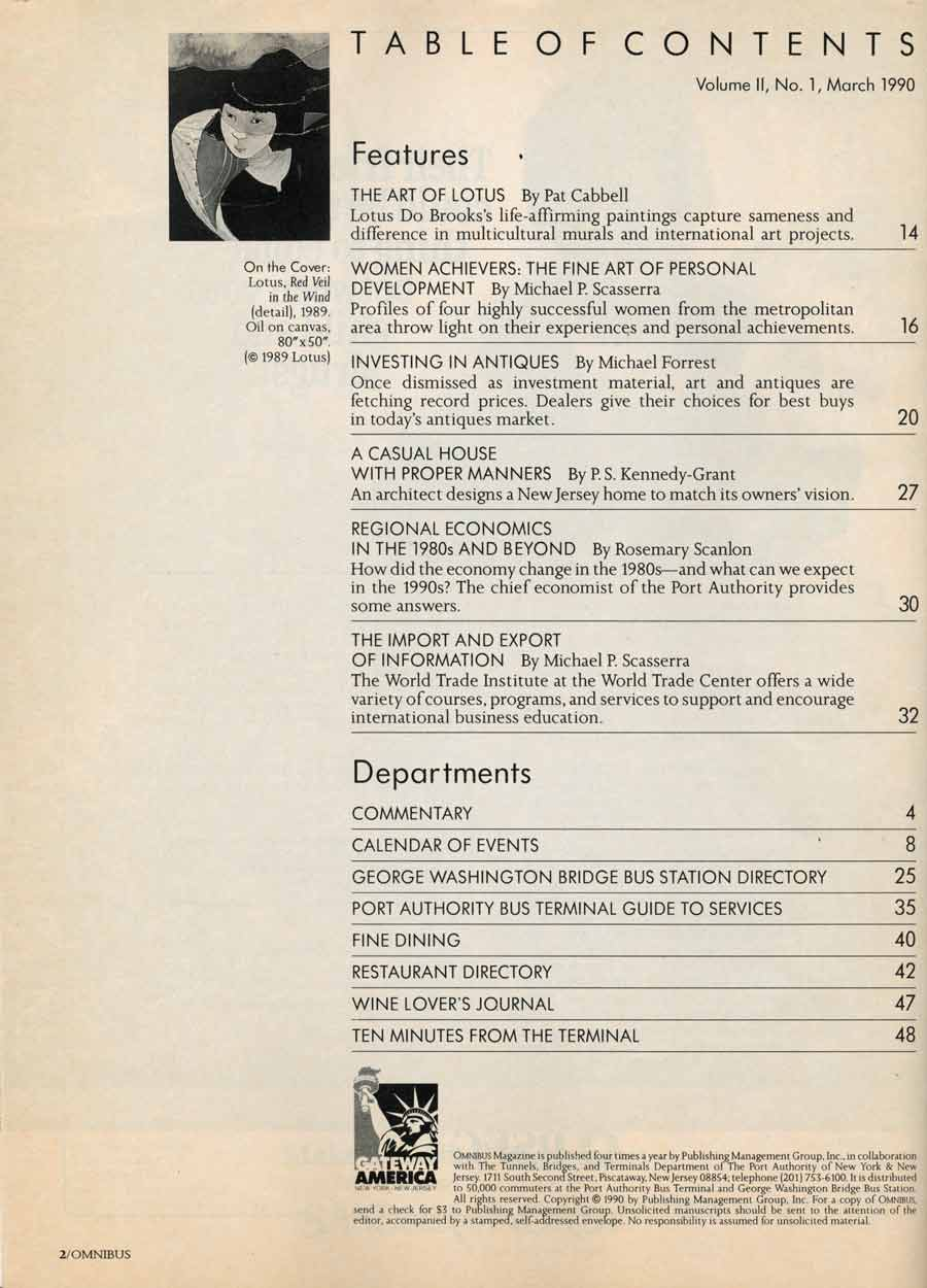 OMNIBUS, table of contents