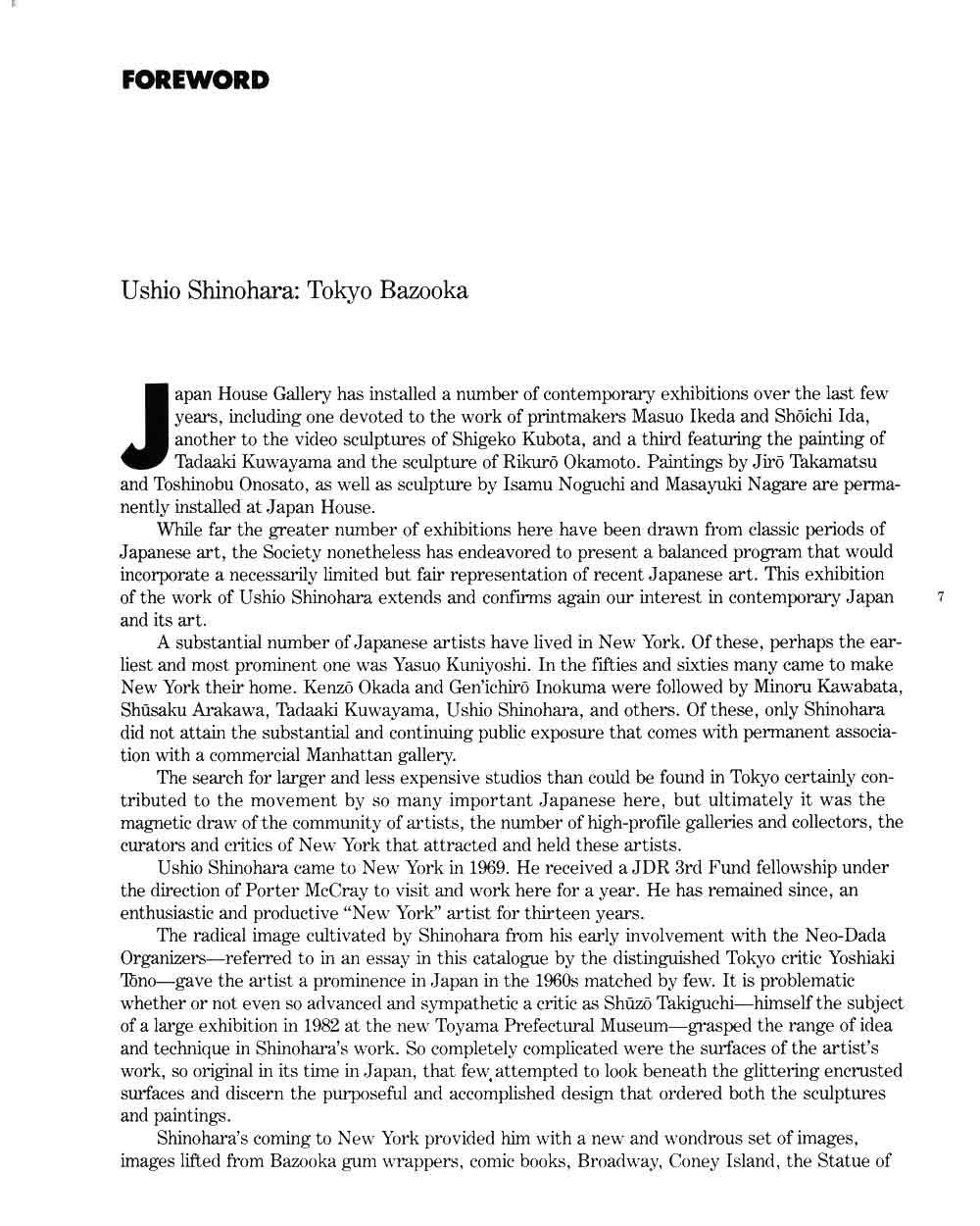 Ushio Shinohara: Tokyo Bazooka, essay, pg 1