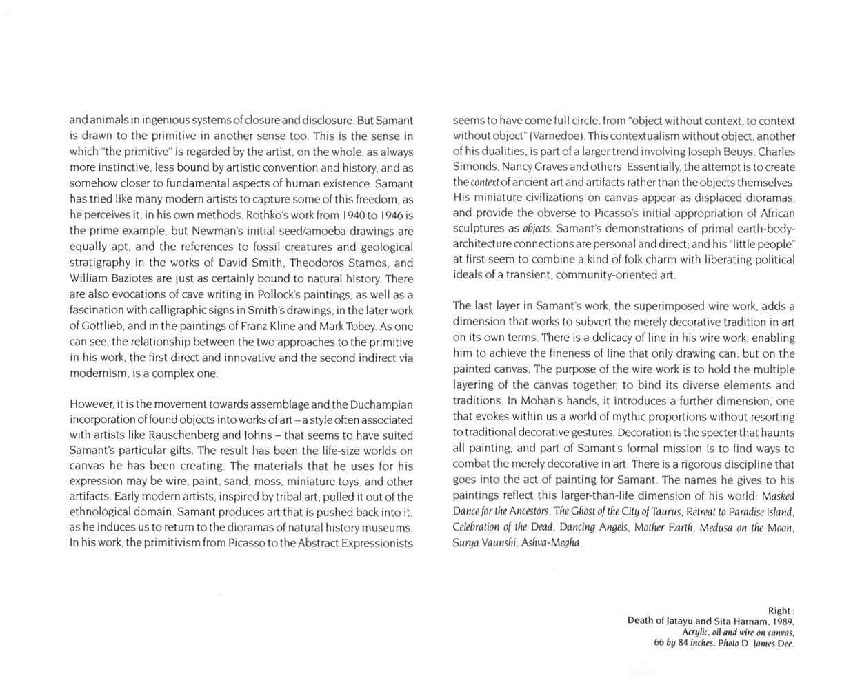Mohan Samant, catalog, pg 2
