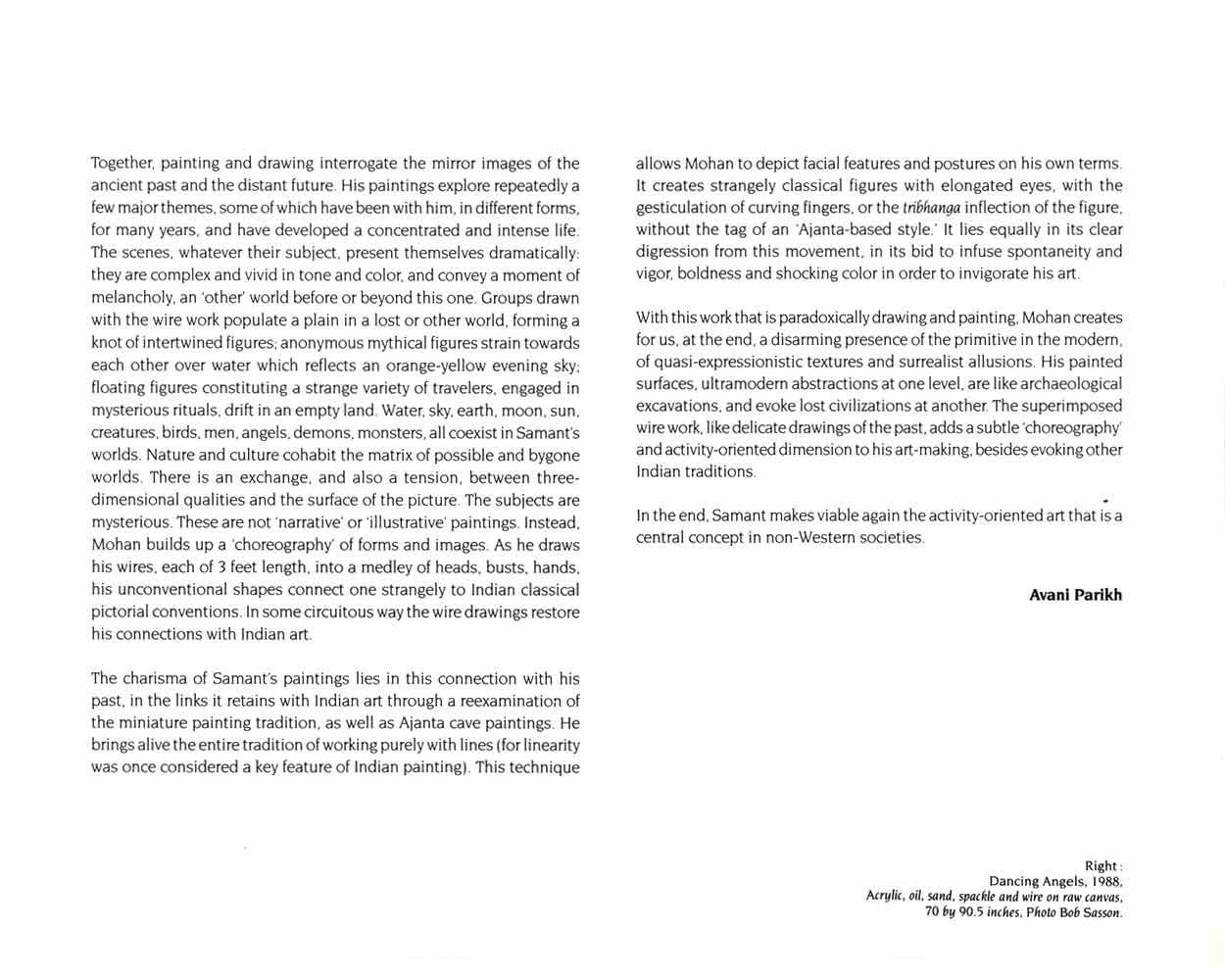 Mohan Samant, catalog, pg 3