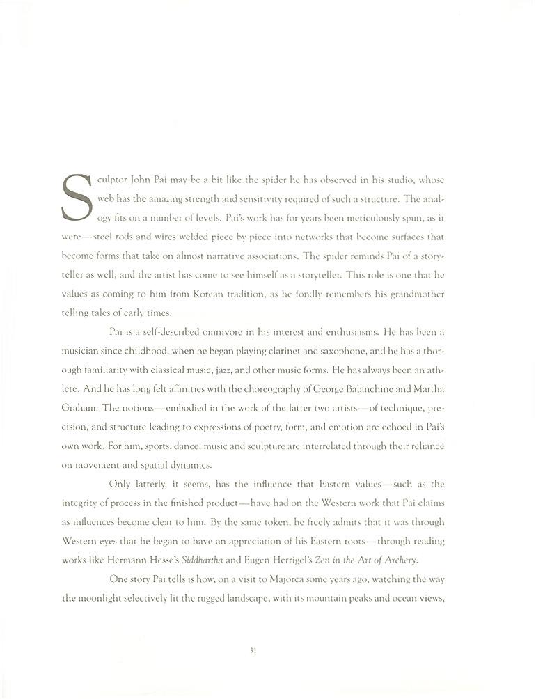 John Pai: One on One, essay, pg 1