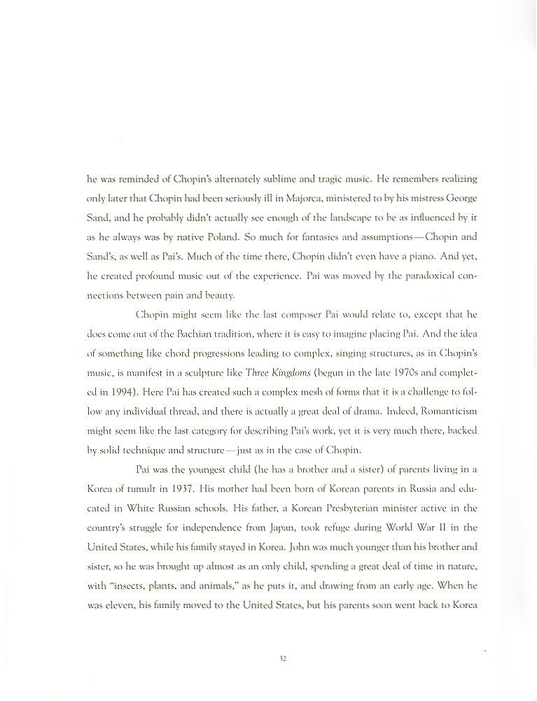 John Pai: One on One, essay, pg 2