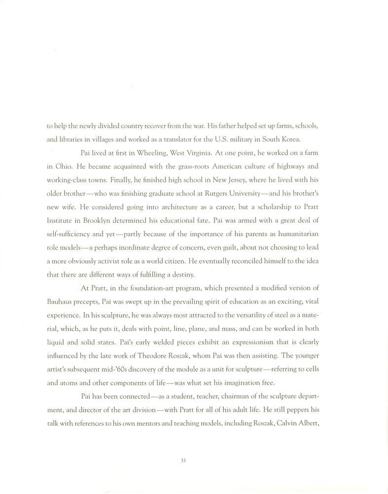 John Pai: One on One, essay, pg 3
