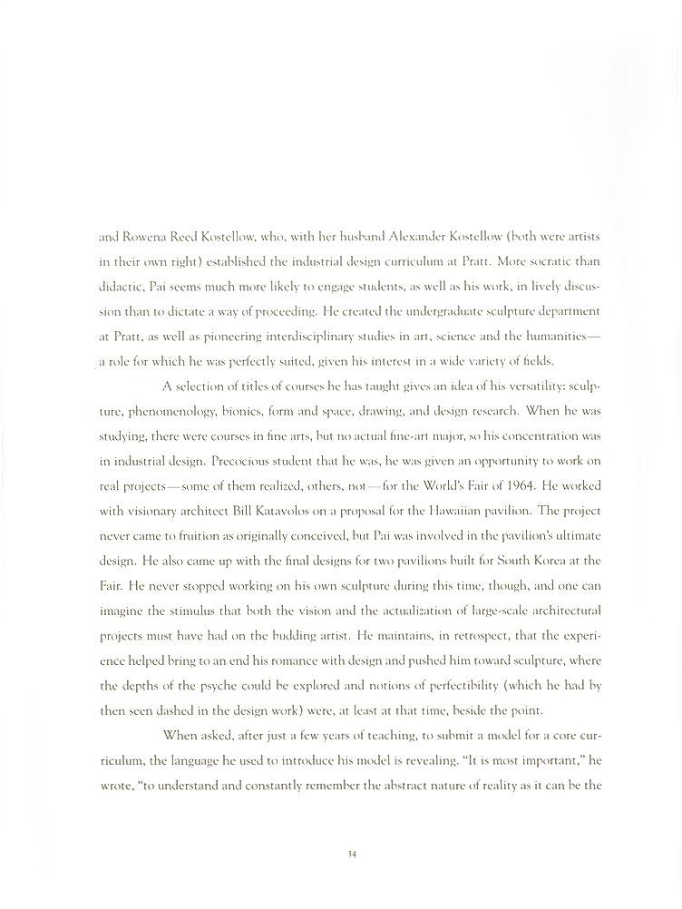 John Pai: One on One, essay, pg 4