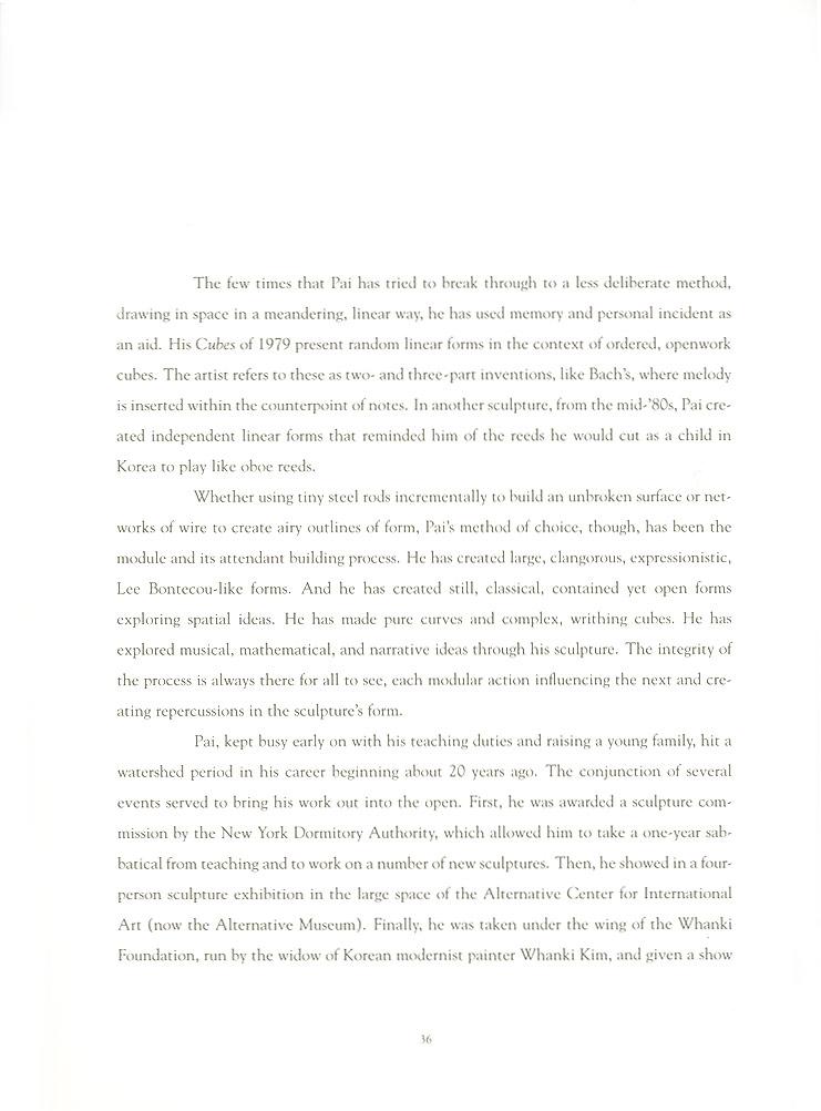 John Pai: One on One, essay, pg 6