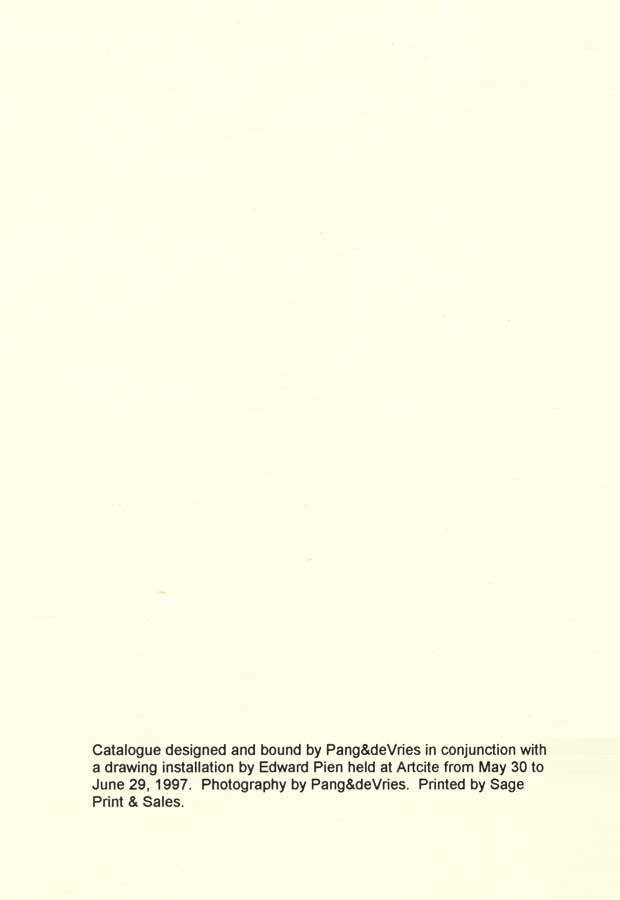 Invisible Sightings, colophon page