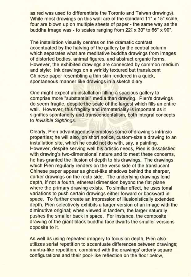 Invisible Sightings, essay, pg 2