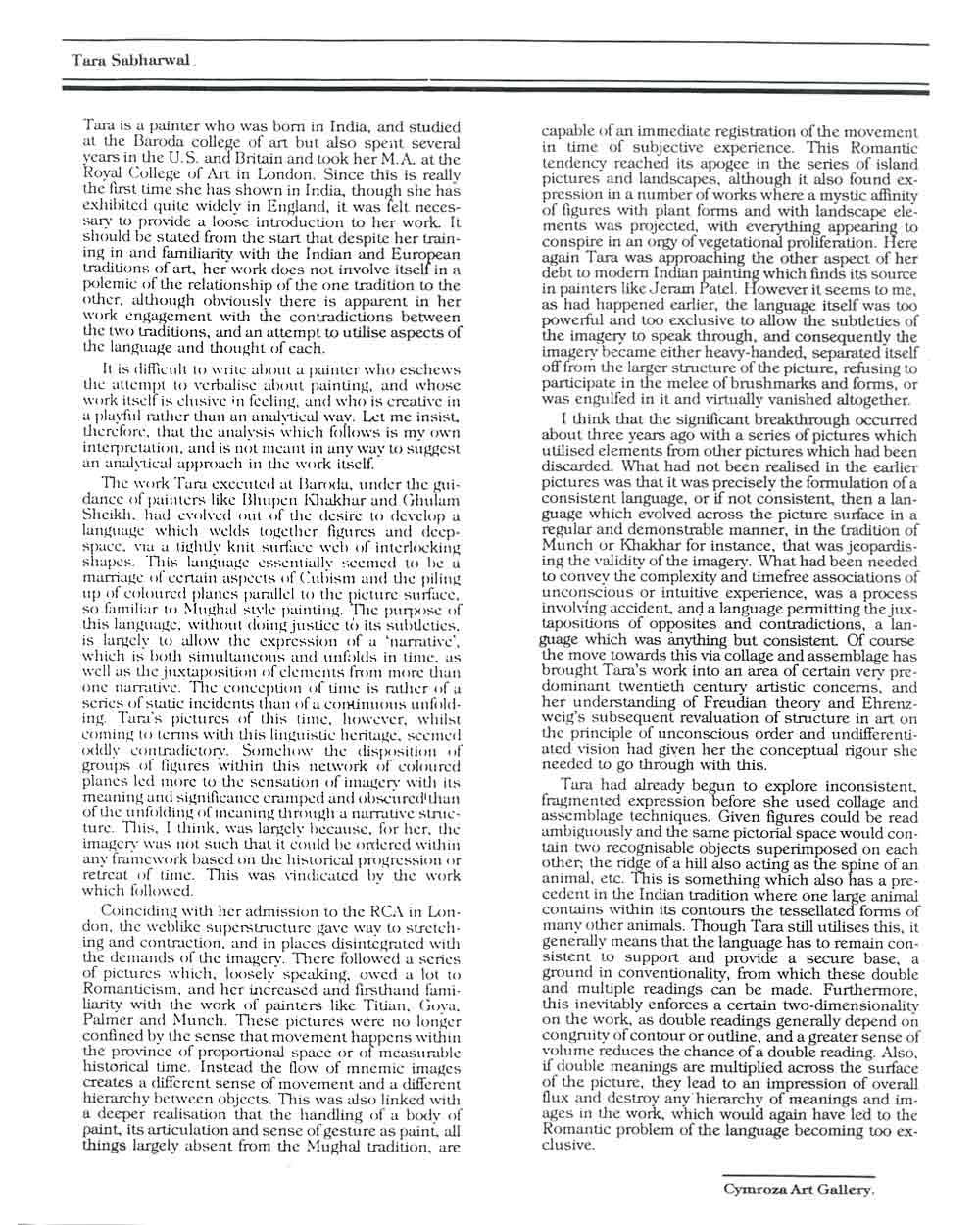Essay by Ivan Prescott, pg 1