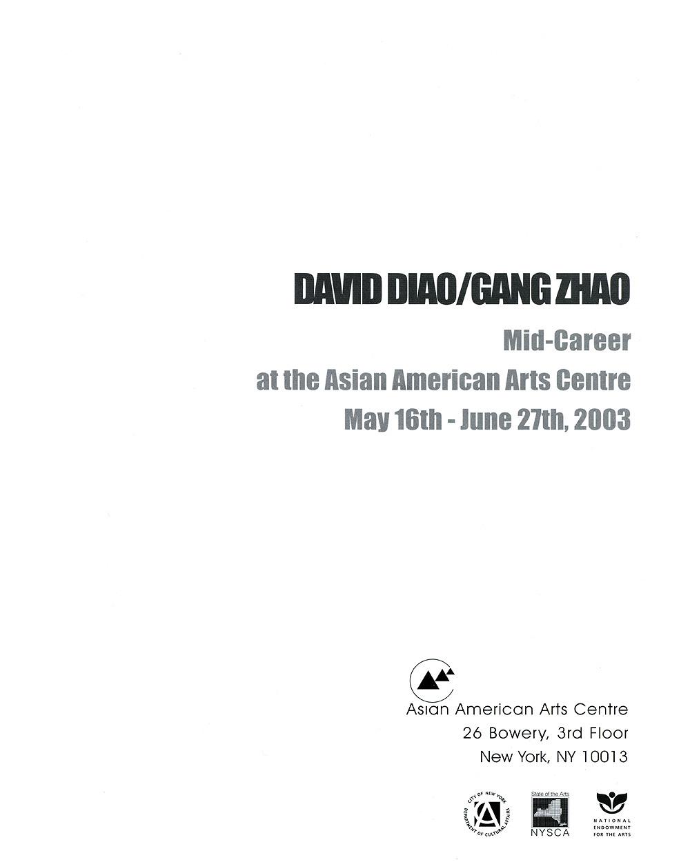 David Diao/Gang Zhao, title page