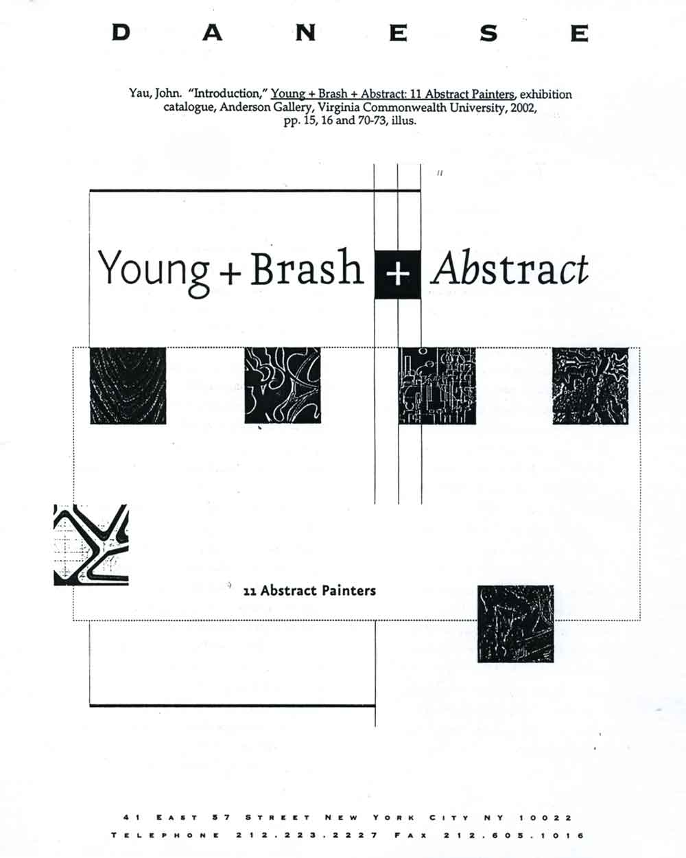 Introduction by John Yau, pg 1