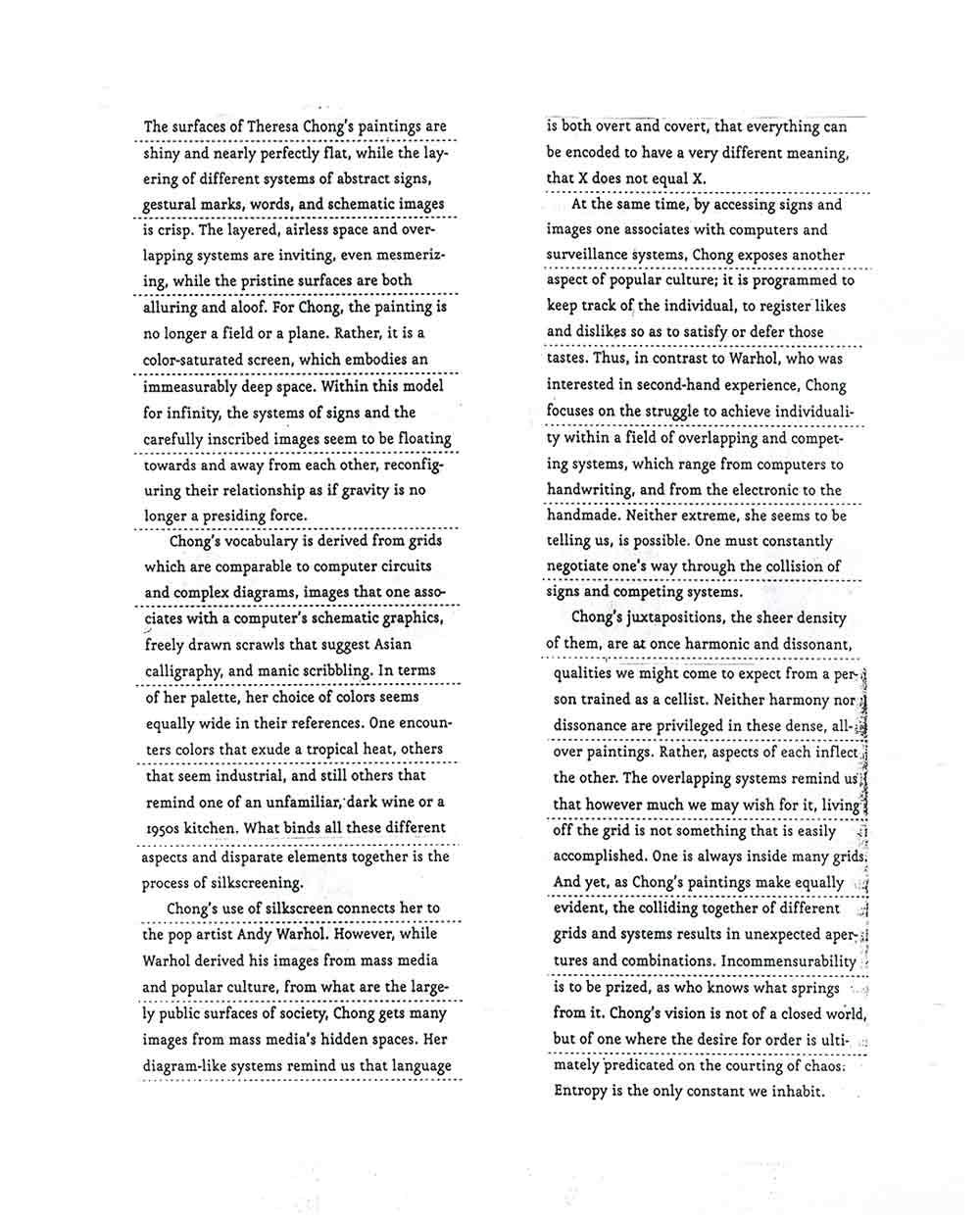 Introduction by John Yau, pg 2