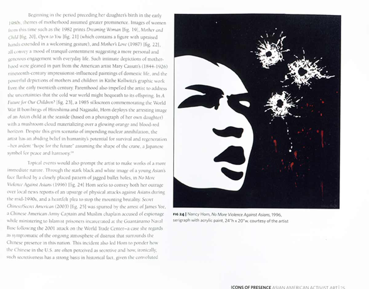 """Excerpt from Exhibition Catalog """"Icons of Presence : Asian American Activist Art"""" by Margo Machida, 2008"""