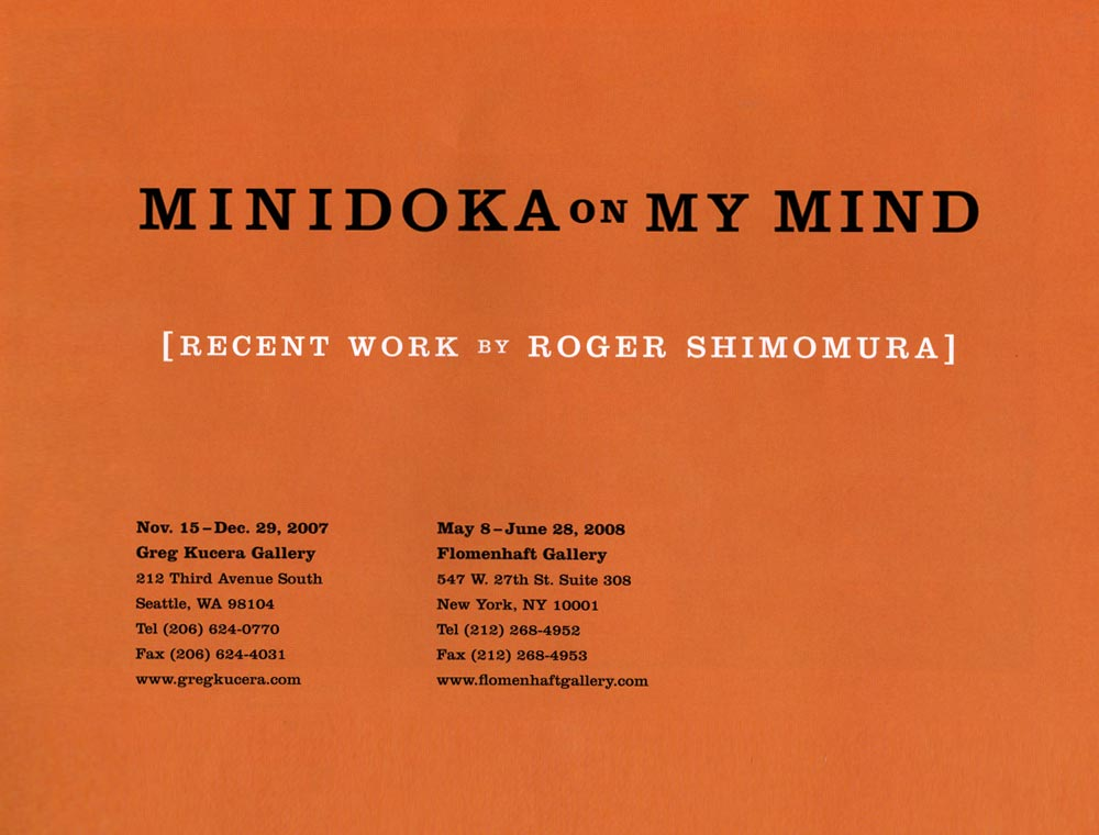 Minidoka on My Mind, brochure, excerpt pg 1
