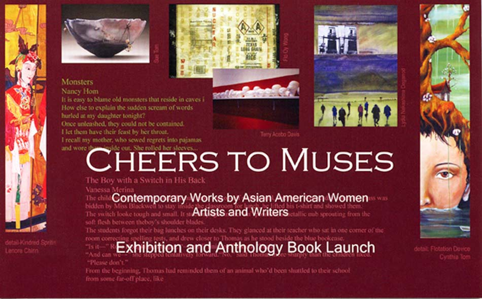 "Exhibition Postcard for ""Cheers to Muses : Contemporary Works by Asian American Women Artists and Writers"", 2007"