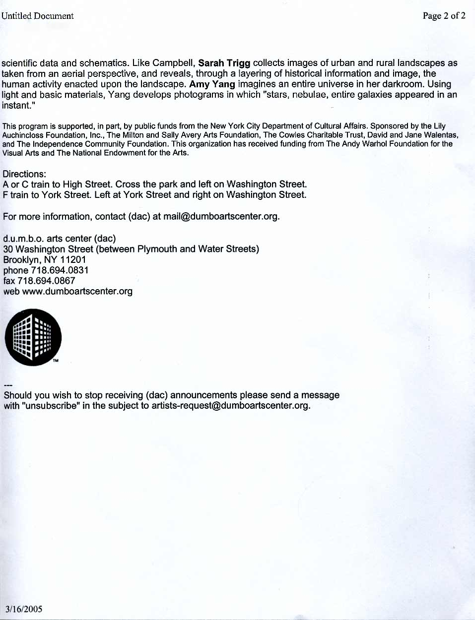 Human Scale, announcement, pg 3