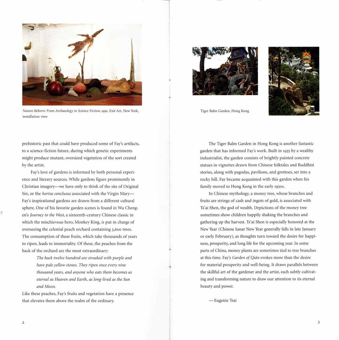 Garden of Qian, brochure, pg 3