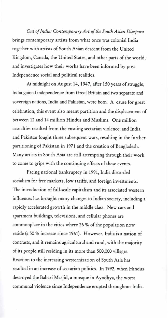 Out of India, brochure, pg 2