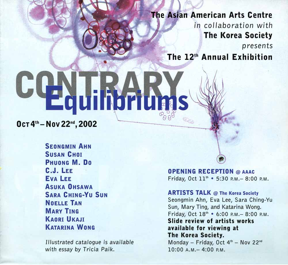 Contrary Equilibriums flyer, pg 1