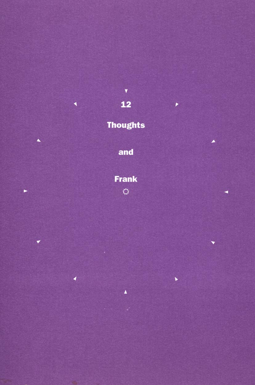 12 Thoughts and Frank, flyer, pg 1