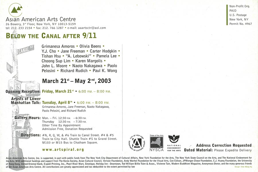 Below the Canal After 9/11, flyer, pg 6