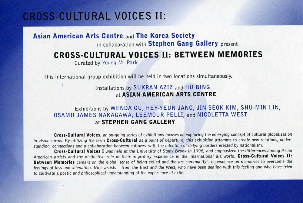 Cross-Cultural Voices II, flyer, pg 2