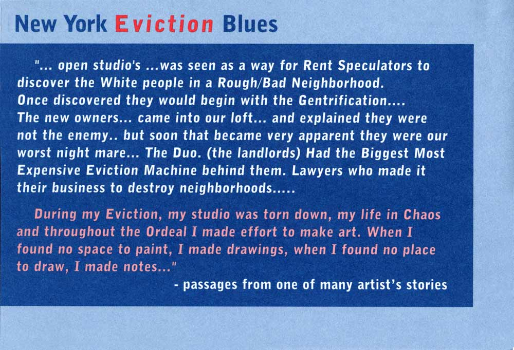 Eviction Blues flyer, pg 2