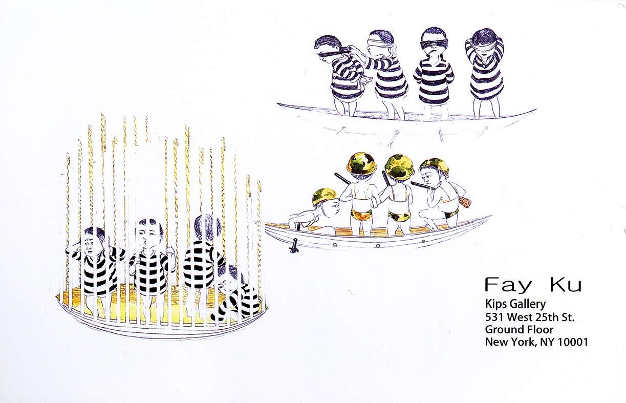 Fay Ku: A Survey of Works (2004-2008), postcard, pg 1