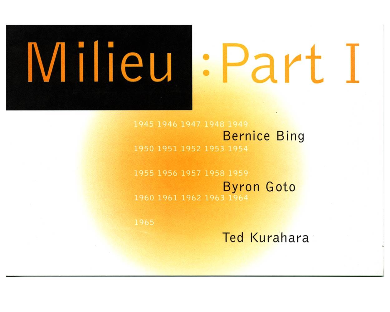 Exhibition flyer for Milieu Part: 1